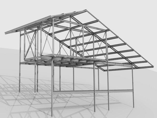 Chapa colaborante nieto y monterde arquitectos consultores de estructuras - Estructura metalica vivienda ...
